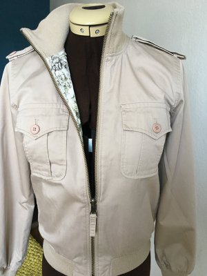 TIGER OF SWEDEN coole Wende-Blousonjacke beige/ tropical print - Gr.36