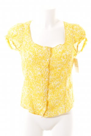 Tiger of sweden Kurzarm-Bluse creme-gelb florales Muster Beach-Look