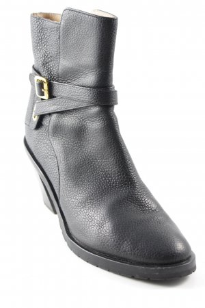Tiger of sweden Zipper Booties black-gold-colored casual look