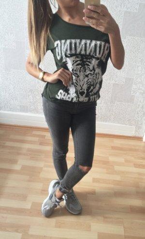 Tiger print shirt khaki