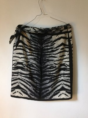 renard Wraparound Skirt oatmeal-black