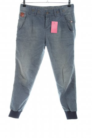 Tigerhill 7/8 Jeans blau-weiß Casual-Look