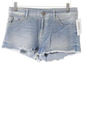 Tigerhill Hot Pants weiß-himmelblau meliert Beach-Look