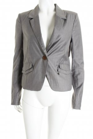 Tigerhill Kurz-Blazer grau Materialmix-Look