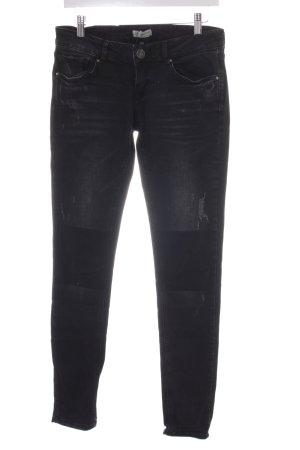 Tigerhill Skinny Jeans schwarz Used-Optik