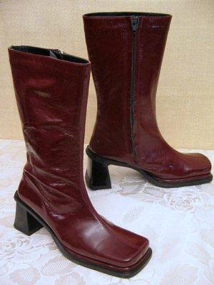 TIGGER'S Lola9 Stiefel Bordeaux Rot Größe 36 Nappa Lack Leder Boots
