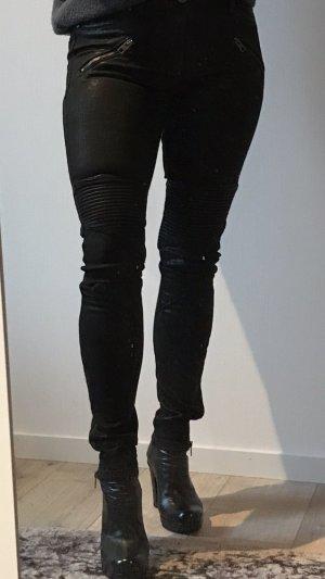 TIGHA Beschichtete Jeans mit Reißverschlüssen an Taschen und Beinen