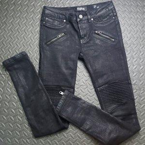 Tigha Biker Leder wetlook Optik Jeans gr. 26
