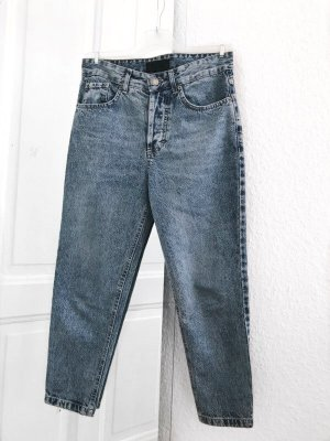 Tigha 7/8 Length Jeans dark blue-slate-gray cotton