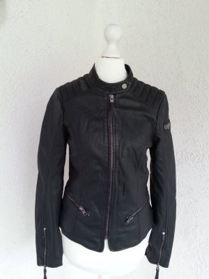 Tigha coole Lederjacke Bikerstil schwarz Gr.S/36 neu mit Etikett