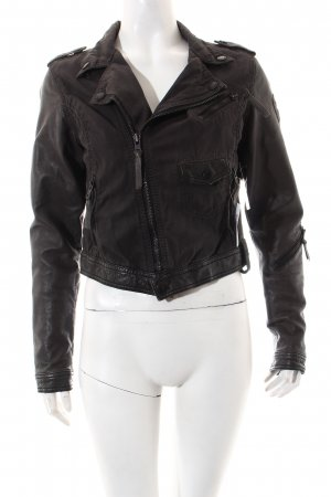 Tigha Jeansjacke schwarz Casual-Look