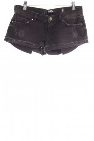 Tigha Jeansshorts taupe Street-Fashion-Look
