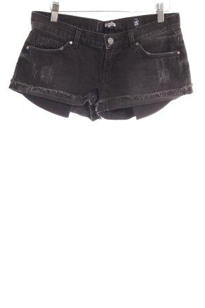 Tigha Pantalón corto de tela vaquera taupe look Street-Style