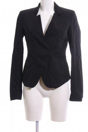Tigha Kurz-Blazer schwarz Business-Look
