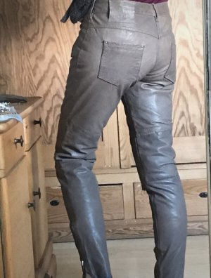 Tigha Leather Trousers grey brown-grey
