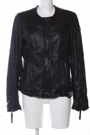 Tigha Lederjacke schwarz Casual-Look