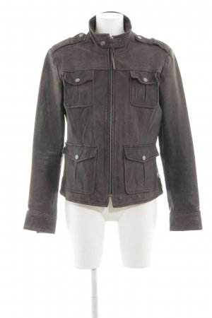 Tigha Lederjacke braun Casual-Look