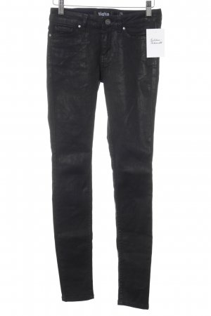 Tigha Drainpipe Trousers black party style
