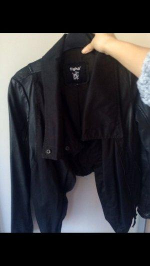 Tigha schwarze Lederjacke, XS