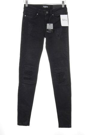 Tigha Skinny Jeans dunkelgrau-schwarz Casual-Look