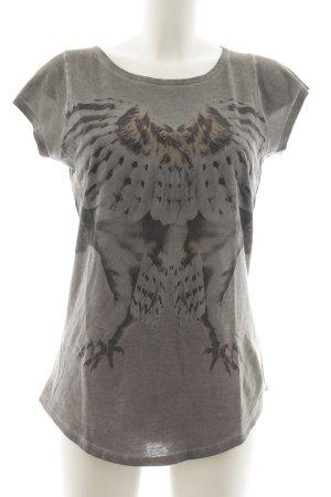 Tigha T-Shirt dunkelgrau-grau Allover-Druck Animal-Look