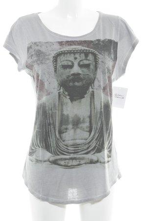 Tigha T-Shirt grau-dunkelgrau Motivdruck Casual-Look