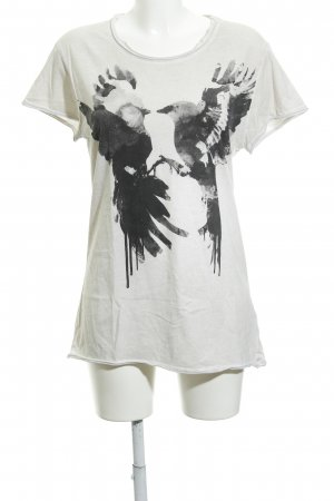 Tigha T-Shirt meliert Boho-Look