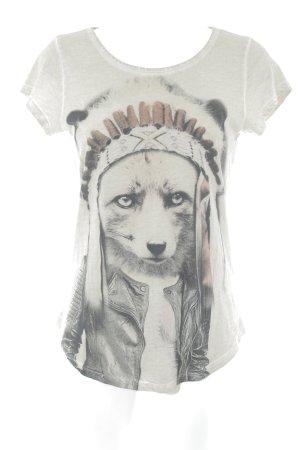 Tigha T-Shirt Motivdruck Casual-Look