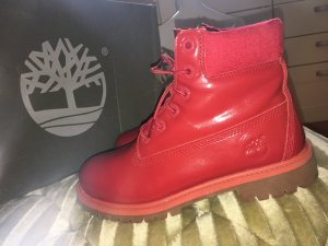 Timberland 6 In Premium Waterproof Boot in Leder Red in gr. 38