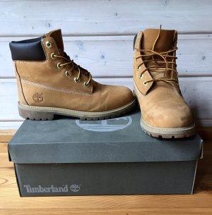 Timberland Short Boots gold orange leather