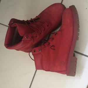 Timberland 6 Inch Premium Boots in rot