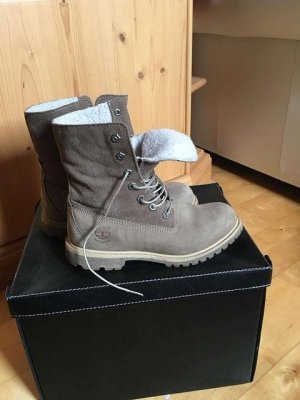 Timberland -Authentic Fleece-Damenstiefel in taupe, WATERPROOF