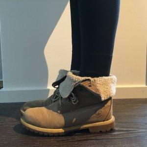 Timberland authentic teddy fleece waterproof fold-down boots