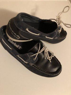 Timberland Zapatos de marinero blanco-azul oscuro