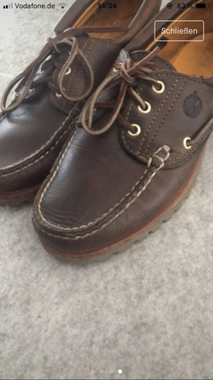 Timberland Sailing Shoes brown-dark brown leather