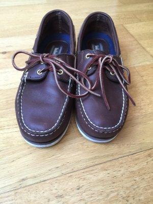 Timberland Boatshoes Schuhe Leder Braun Segelschuhe 40