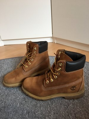 Timberland Winter Booties cognac-coloured
