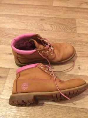Timberland Boots Ankle boots braun rosa pink Größe 39 8M