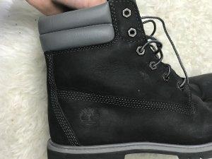 Timberland Boots damen herren 41,5 grau schwarz mit karton