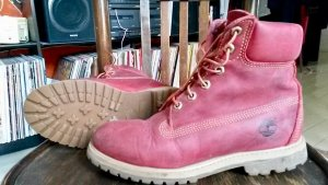 Timberland Boots in rot