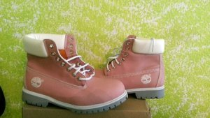Timberland Boots neu nude rosa hell boots 6 In Premium WP Gr 40 41