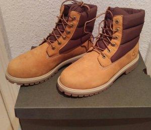 timberland boots neu stiefel schnürstiefel camel braun