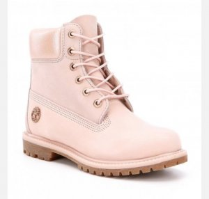 Timberland boots rose mit gold chain