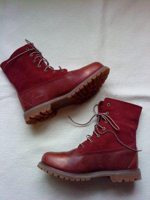 Timberland Boots * Schnür-Stiefelette * Gr. 41 * gefüttert * TOP