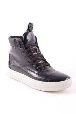 Timberland Boots schwarz-weiß Glanz-Optik