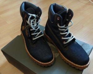 Timberland boots stiefel schnürstiefel denim blau