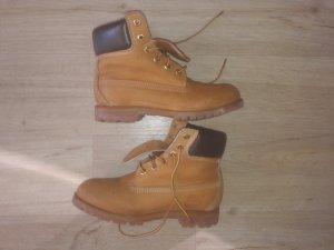 Timberland Boots Stiefel Stiefeletten Leder braun beige 37,5 Leder