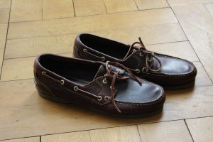 Timberland Sailing Shoes dark brown-brown leather