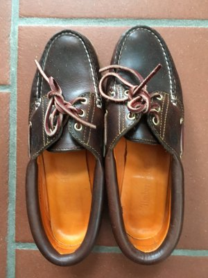 Timberland bootsschuhe segelschuhe braun Größe w8(39)