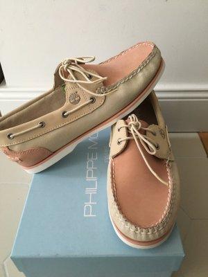Timberland Zapatos de marinero crema-rosa